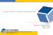 Linking Finance to Performance/Outcomes