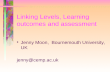 Linking Levels, Learning outcomes and assessment