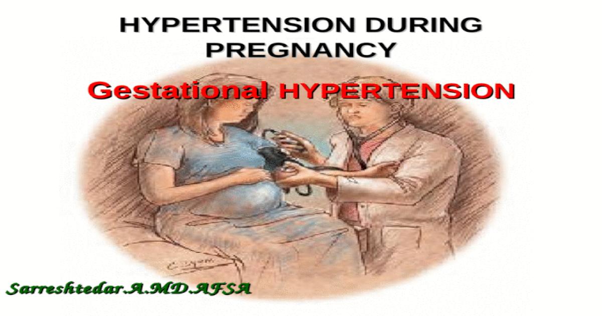 gestational hypertension is