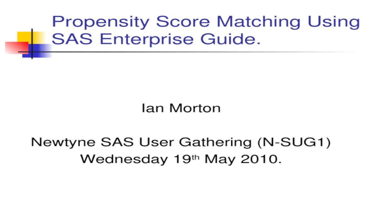 Propensity score matching in sas