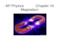 AP Physics Chapter 19 Magnetism. Chapter 19: Magnetism 19.1Magnets, Magnetic Poles, and Magnetic Field Direction 19.2 Magnetic Field Strength and Magnetic.