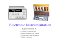 Electronic Instrumentation Experiment 8 * Op Amp Circuits Review * Voltage Followers and Adders * Differentiators and Integrators * Analog Computers.