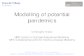 Session 4: Modeling of potential pandemics