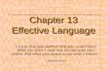 Chp 13 language