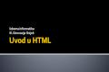Uvod u HTML
