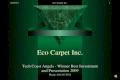1/4/2016Eco Carpet Inc.1 Tech Coast Angels - Winner Best Investment and Presentation 2009 Phone: 818.237.5521.