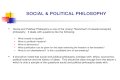 """SOCIAL & POLITICAL PHILOSOPHY Social and Political Philosophy is one of the (many) """"branches"""" of (western/analytic) philosophy. It deals with questions."""