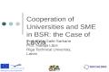 Cooperation of Universities and SME in BSR: the Case of Latvia Prof. Elina Gaile-Sarkane Prof. Nataļja Lāce Riga Technical Univeristy, Latvia.