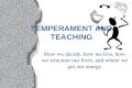 TEMPERAMENT AND TEACHING