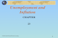 1 Unemployment and Inflation CHAPTER 23 © 2003 South-Western/Thomson Learning.