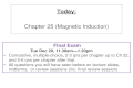 Chapter 25 (Magnetic Induction) - Hunter .Chapter 25 (Magnetic Induction) ... • Cumulative, multiple-choice,