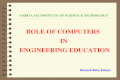 Role of computers in Engineering Education