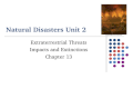 Natural Disasters Unit 2 Extraterrestrial Threats Impacts and Extinctions Chapter 13.