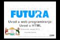 Uvod u web programiranje: Uvod u HTML