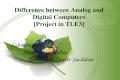 Analog and Digital Computers