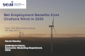 Net Employment Benefits from Onshore Wind in 2020, Sarah Stanley, SEAI