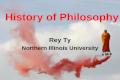 Rey Ty, History of Philosophy