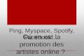 La promotion des artistes online