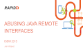 Abusing Java Remote Interfaces