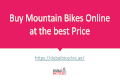 Buy Mountain Bikes online at the best Price