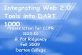Integrating Web Based Tools into DART 1000