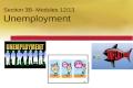 Section 3B- Modules 12/13 Unemployment. Unemployment.