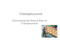 Unemployment Determining the Natural Rate of Unemployment.