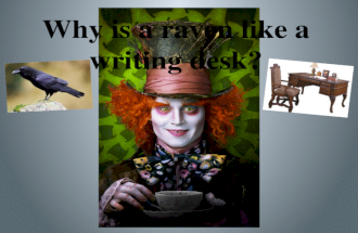 Why is a raven like a writing desk?. Welcome to Science Fiction & Fantasy Unit!!!!!