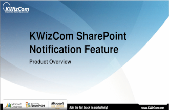 KWizCom SharePoint Notification Feature