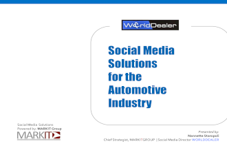 Social Media and the Automotive Industry