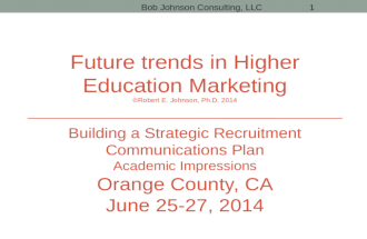Future Trends in Higher Education Marketing