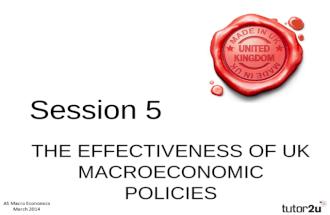 AS Macro: The Effectiveness of UK Macro-Economic Policies