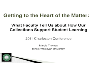 Getting to the Heart - Charleston Conf 2011