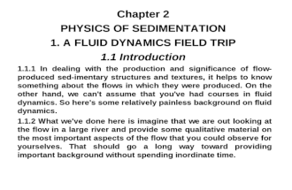 Lecture Notes - Physics of Sedimentation