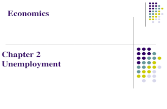 Economics Chapter 2 Unemployment. A person is unable to find a job although he is able and willing to work. Jobless ≠ Unemployed Population Labour force.