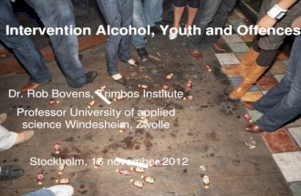 Intervention  Alcohol,  Youth and Offences