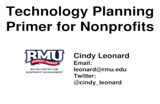 Technology Planning Primer for Nonprofits