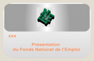 Le Fonds National de l'Emploi
