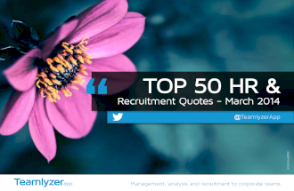 TOP 50 HR &  Recruitment Quotes - March 2014
