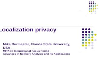 Localization privacy