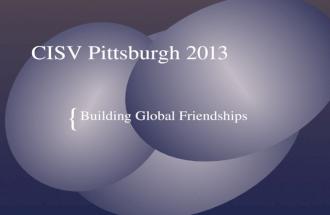 CISV Pittsburgh 2013