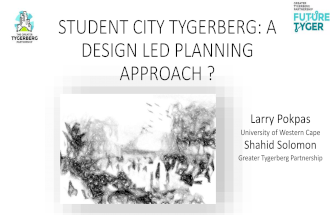 Design led planning presentation at Department of Design a World Design Capital Project Cape Town 22 july 2014 final