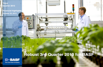 BASF Q3 Results Charts at Analyst Conference