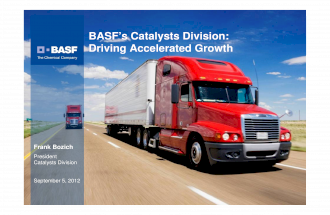 BASF Catalyst Division: Driving accelerated growth