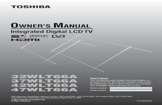 Toshiba Regza MANUAL