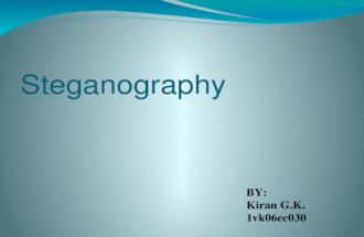 Steganography Ppt