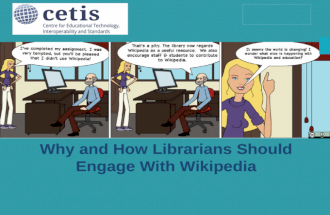 Why and how librarians should engage with Wikipedia