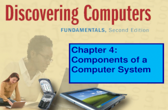 Chapter 4: Components of a Computer System. The System Unit What is a computer system unit? p. 134 Fig. 4-1 Next Basically, the case that contains electronic.