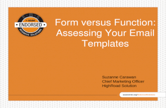 Asae lunch learning-Form versus Function: Assessing Your Email Templates
