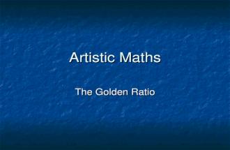 Artistic maths